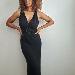 Jaclyn Smith Black Maxi Dress